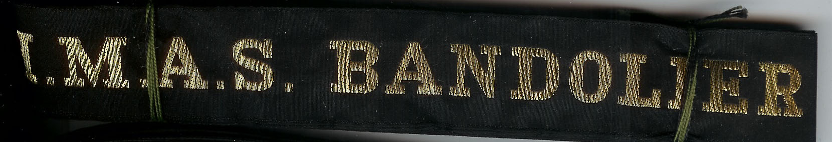 HMAS BANDOLIER' - RAN Tally Band