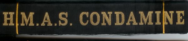 HMAS CONDAMINE' - RAN Tally Band