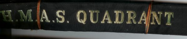 HMAS QUADRANT' - RAN Tally Band