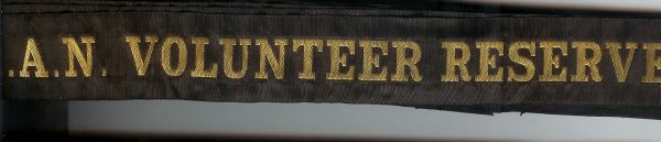 R.A.N. VOLUNTEER RESERVE' -RAN Tally Band