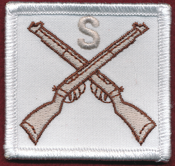 Marksman's Badge - Sniper (White)