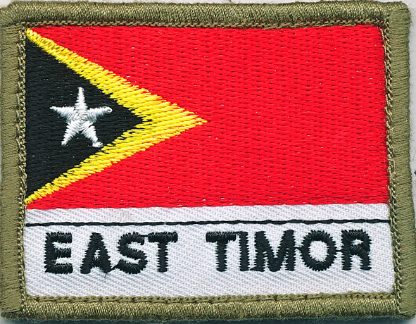 East Timor Flag Patch (Shoulder)