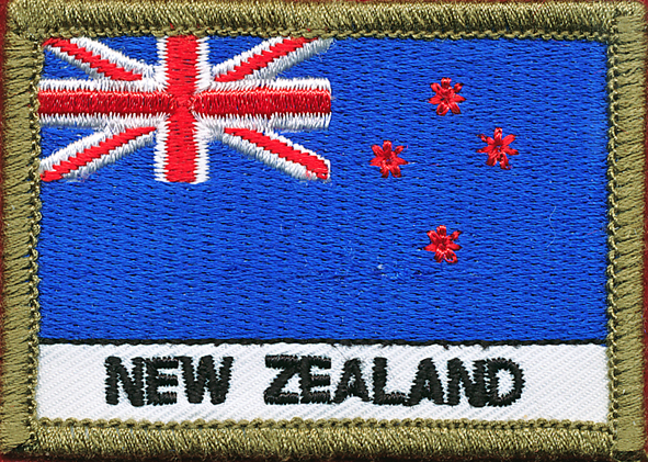 New Zealand Flag Patch (Polyester)