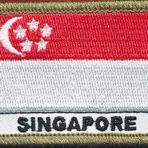 Singapore Flag patch - (Shoulder)