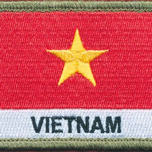 Vietnam Flag patch - (Shoulder)