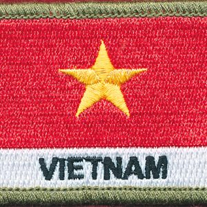 Vietnam Flag patch - (Poltester)