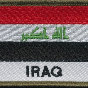 IRAQ Flag Patch - (Polyesters)