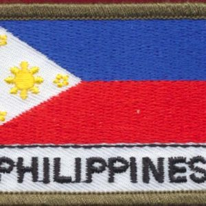 Philippines Flag Patch (Polyester)