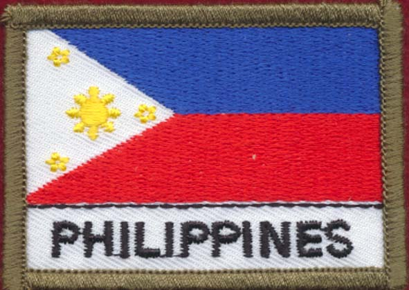 Phillipines Flag Patch (Polyester)