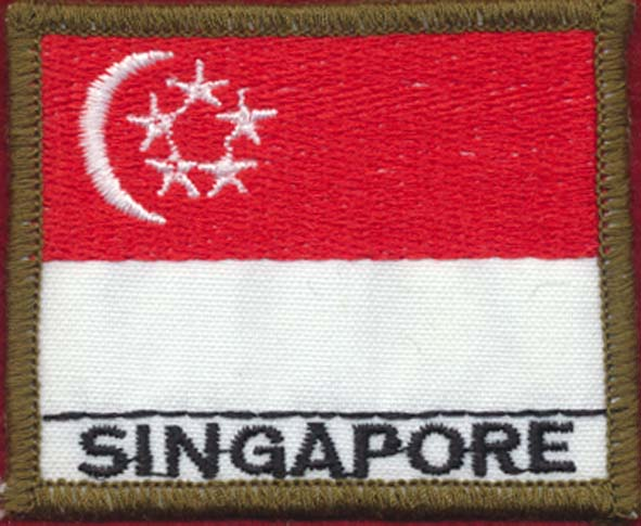 Singapore Flag Patch (Polyester)
