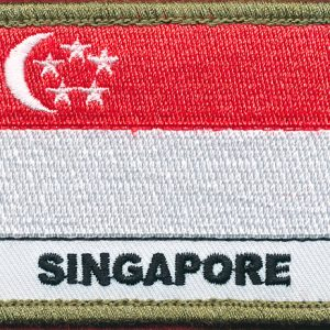 Singapore Flag patch - (Polyester)
