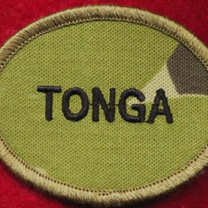 TONGA Patch - DPCU (oval/biscuit)