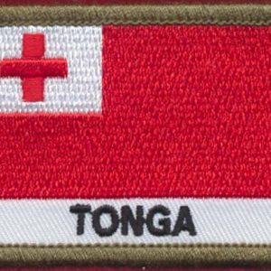 TONGA Flag Patch  (Polyester)