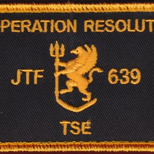 Joint Task Force 639 - Op Resolute TSE