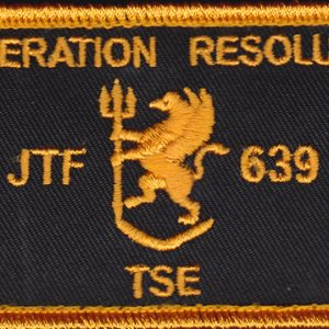 Joint Task Force 639 - Op Resolute TSE  (Navy)