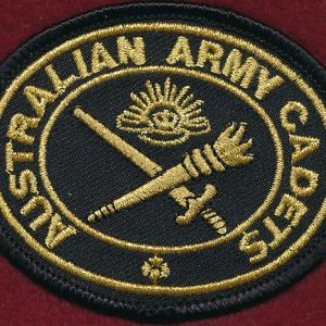 "Australian Army Cadets ""Biscuit""  (Gilt/Black)"