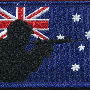 "Australian National Flag  - Fun Patch ""Digger"""