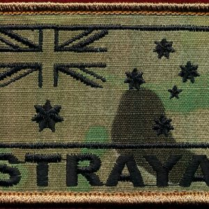 "Australian National Flag ""STRAYA"" (multi cam) (Blk)"