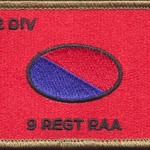 9 Regiment - RAA Patch