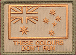 "Australian National Flag  - Fun Patch ""These Colours Don't Run"" (Orange)"